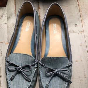 Michael Kors flats denim like new